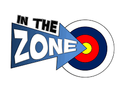 Picture of an arrow saying in the zone, as it hits a target